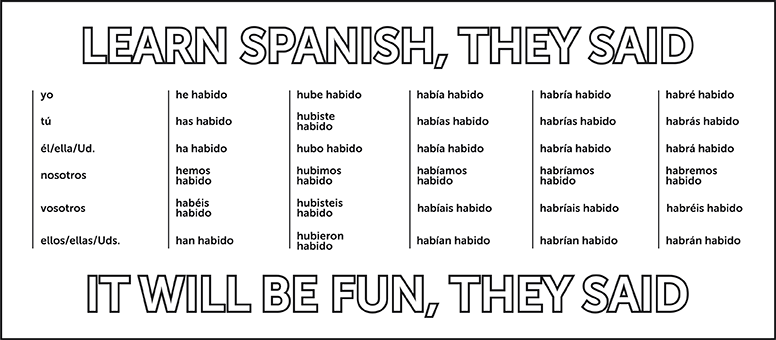 Learning Spanish isn't always easy